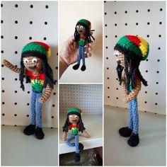 Marley #rasta #amigurumi Crochet Ideas, Crochet Necklace, Fashion, Amigurumi, Moda, Fashion Styles, Fashion Illustrations