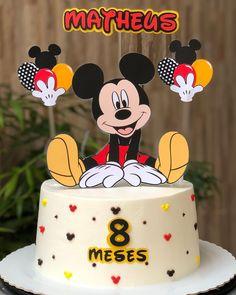 Bolo Mickey Baby, Bolo Do Mickey Mouse, Fiesta Mickey Mouse, Mickey Mouse Cupcakes, Minnie Mouse Theme, Baby Mouse, Fancy Cakes, Cute Cakes, Bolo Blaze