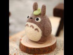 Zanza DIY Handmade Needle Felting Craft Totoro Wool Felt Kit Tutorial - https://www.youtube.com/watch?v=oitInEqo6P0
