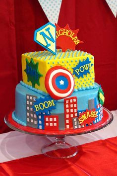 Vintage Super Hero First Birthday Birthday Party Ideas | Photo 1 of 15 | Catch My Party