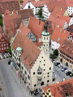 Rathaus in Nördlingen in Bavaria, Germany