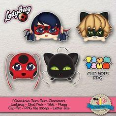 CLIP ART Personajes de Prodigiosa: Las aventuras de Ladybug