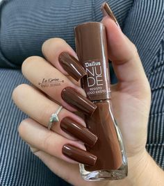 Brown Acrylic Nails, Best Acrylic Nails, Aycrlic Nails, Swag Nails, Fabulous Nails, Perfect Nails, Stylish Nails, Trendy Nails, Nail Paint Shades