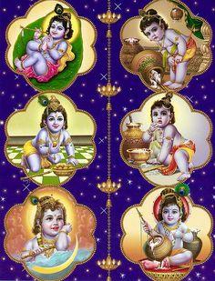 Krishna Leela Krishna Leela - Hindu Posters (Reprint on Paper - Unframed) Krishna Hindu, Krishna Leela, Jai Shree Krishna, Cute Krishna, Krishna Radha, Iskcon Krishna, Lord Krishna Images, Krishna Pictures, Hindus