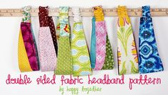 Double Sided Fabric Headband Pattern Sewing Basics, Sewing Hacks, Sewing Tutorials, Sewing Patterns, Basic Sewing, Free Sewing, Fabric Crafts, Sewing Crafts, Sewing Projects