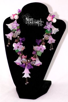 SUMMER+SERIES++Afternoon+Tea++Lucite+flower+crystal+by+NoteJewelry,+$49.00