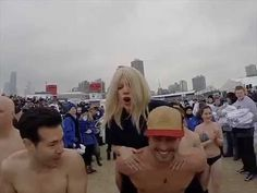 Lady Gaga Chicago Polar Plunge 2015 for Special Olympics Chicago Taylor Kinney, Special Olympics, Lake Michigan, How To Raise Money, Lady Gaga, Super Bowl, Chicago, Take That, Cold