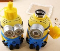 2015 NEW Minions Sipper Drink Stainless Steel Vacuum Insulated Water Bottles Large Capacity
