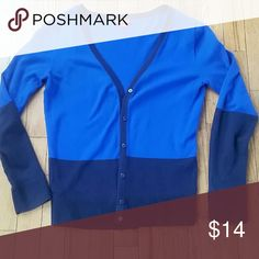 Dual Color Cardigan Long sleeved two toned blue cardigan Merona Sweaters Cardigans