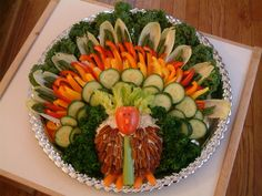 Turkey Veggie Platter.                                                                                                                                                                                 More
