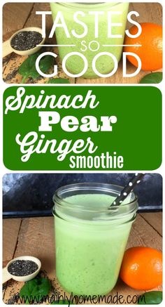 Most up-to-date Cost-Free Refreshing Spinach Pear Ginger Smoothie Recipe Ideas Healthy Smoothie Menu Everyone loves a great smoothie , but not everybody actually feels about the Smoothie Menu, Green Detox Smoothie, Healthy Green Smoothies, Pear Smoothie, Raspberry Smoothie, Green Smoothie Recipes, Juice Smoothie, Fruit Smoothies, Healthy Drinks