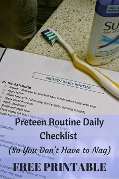 FREE PRINTABLE - Preteen Routine Daily Checklist Printable (So You Don't Have to Nag) routine checklist routine daily routine for oily skin routine ideas routine schedule routine skincare routine weekly Chore Checklist, Daily Checklist, Kids Checklist, Chore List, Kids Summer Schedule, Daily Schedule Kids, Daily Schedule Printable, Routine Printable, Beauty Routine Schedule