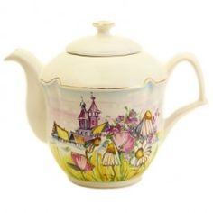 The flower collection ceramic teapot, $35.00, Holds 33.81 oz (1,000 ml).Catalog of St. Elisabeth Convent. #CatalogOfGoodDeed #handmade #ceramic #gift #present #souvenir #unique  #exclusive #sweethome #flower #collection #tea #set #overglaze #summer #pottery http://catalog.obitel-minsk.com/ceramics-workshop
