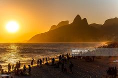 Late afternoon at Ipanema Beach, Rio de Janeiro