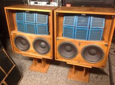 Vintage Crown ES26 ES 26 Auralinear Speakers 2x10 Woofer Electrostatic Tweeters…
