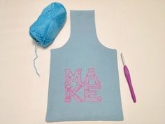 MAKE Blue and Pink Yarn Bag for Fiber Artists by TheSteadyHand