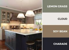 captivating white yellow kitchen ideas | A gray and white kitchen color scheme adds openness and ...