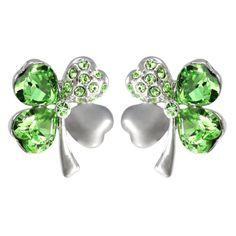 Four Leaf Clover Heart Shaped Swarovski Elements Crystal Stud Earrings - Green Dahlia,http://www.amazon.com/dp/B00606WP2E/ref=cm_sw_r_pi_dp_9iEJsb1QQJ89VDBJ