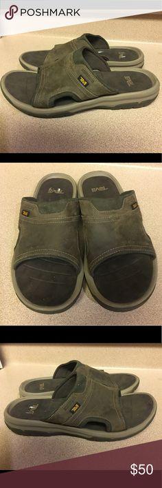e66da2ad3d625 EUC TEVA MENS SANDALS LANGDON SLIDE WALNUT SIZE 11 Pre-Owned TEVA MENS  SANDALS LANGDON SLIDE WALNUT SIZE 11 Teva Shoes Sandals   Flip-Flops