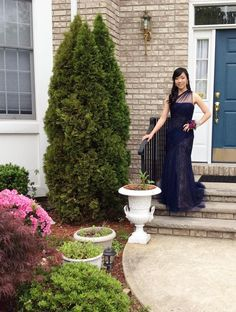 Rent Navy Tulle To Lace Gown by ML Monique Lhuillier for $70 only at Rent the Runway.
