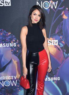 Eiza González two color leather pants Pelo Casual, Lederhosen Outfit, Hollywood Actress Photos, Leather Pants Outfit, Latex Pants, Girls Gallery, Beautiful Celebrities, Mannequin, Leather Fashion