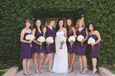 Different bridesmaid dresses in the same color   <3 my girls!