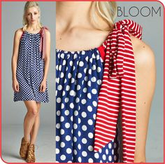 Look all casual and chic with this polka dot dress right here.