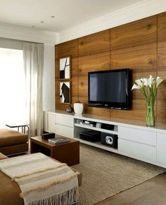 How to use modern TV wall units in living room wall decor Living Room Tv, Home And Living, Modern Tv Wall Units, Living Room Designs, House Design, Home Decor, Wall Tv, Entertainment Wall, Entertainment Centers