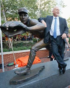 The Baltimore Orioles unveil Cal Ripken Jr. statue at Camden yards. ( Rob Carr, Getty Images / September 6, 2012 )