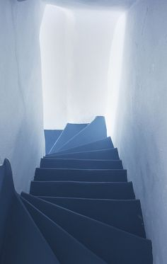 Blue stairs, a photo by Beth Andrews