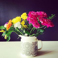 Marimekko, Geraniums, Spring 2014, Table Settings, Delicate, Vase, Dinnerware, Bouquets, Nature