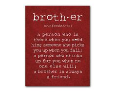 Oh Brother: Whether younger or older, remind your son about the importance of being a sibling ($14).