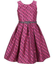 Bonnie Jean Big Girls 716 Sleeveless Dot Metallic Brocade Dress #Dillards