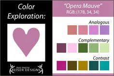 Explore Color: Opera Mauve - Eva Maria Keiser Designs