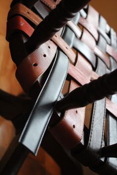 replacing a seat with woven leather belts | DIY | Project | Tutorial