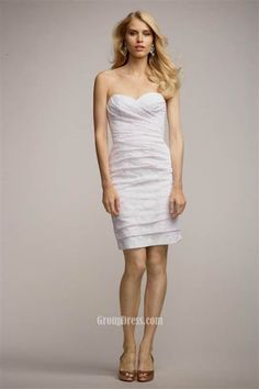 short strapless white lace dress 2016/17 » OneBoard