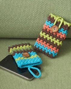 Sugar 'n Cream - Mobile Phone Covers (crochet)