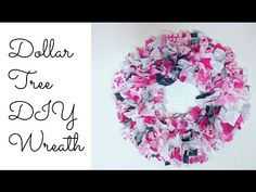 How to Make Rag Wreath | DIY Valentines Day decor easy fabric wreath tutorial - YouTube