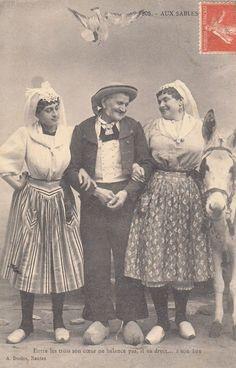 Aux Sables, entre les trois mon coeur balance. 1907