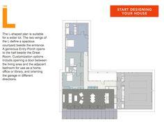L Shaped Floor Plans 3 Someday Home Pinterest