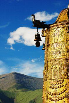 Johkhang prayer wheel . Lhasa