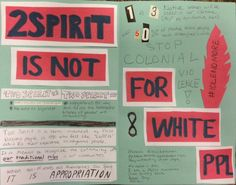 """2 Spirit Is Not for White ppl  -Two spirit does not equal both a masculine and feminine spirit. -Two spirit is not the same as bigender. -Two spirit is a term invented by First Nations People in 1990 who felt like """"LGBTQ"""" didn't fit their experience as indigenous people.-When non Native's call themselves two spirit, IT IS APPROPRIATION. -Stop Colonial Violence. #Idlenomore [click on this image for a video and brief analysis of cultural representation as a practice of domination]"""