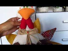 Galinha de Patchwork Peso de Porta - YouTube