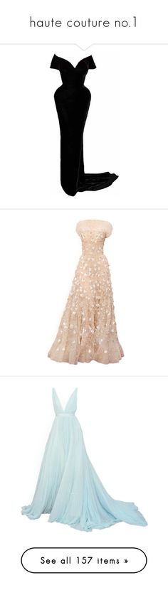 """""""haute couture no.1"""" by ms-perry on Polyvore featuring dresses, gowns, vestidos, long dresses, satinee, pink evening dress, pink gown, pink evening gowns, pink dress и blue color dress"""
