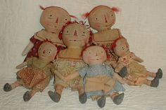 Primitive E-PATTERN  PDF Old and Worn Ann Dollies Raggedy Doll 2 sizes - pinned by pin4etsy.com
