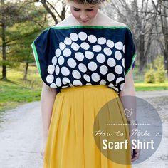 DIY Scarf Shirt