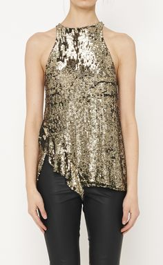 3.1 Phillip Lim Gold Top. This would be cute for a new years party
