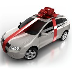 Big car bows, Red Looped Bow for a new car