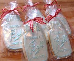 Ball Mason Jar Birthday Cookies