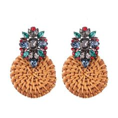 Rattan Crystal Diamond Fashion Earrings 14.99 CAD Fashion Earrings, Women's Earrings, Crystal Flower, Crystal Diamond, Kids Menu, Shoes Heels Wedges, Earring Backs, Jewelry Organization, Christmas Gifts